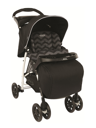 Graco mirage+ black zigzag